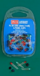 PL-30  3mm, 5 volt, LEDs, Green and Red (10 red, 10 green, 20 panel clips)